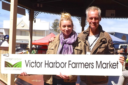 New Manager Lea Auerbach and Brent Tamblyn, Victor Harbor Farmers Market